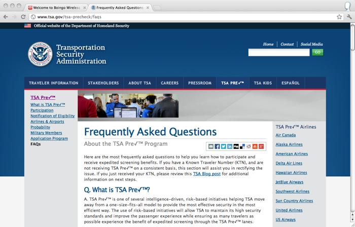 TSA FAQ